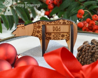 Personalised Polar Bear Christmas Place Names, Wooden Christmas Place Name, Bear Place Names, Luxury Table Decorations