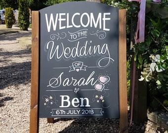 8x10 chalkboard wedding chalkboard wedding chalkboard wedding sign IN242 wedding announcement chalkboard wedding wedding package