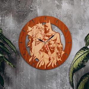 Batman Clock Ivy Wall Clock Superhero Dc Comics Wooden Clock Wood Wall Art  Gift For Friend Office Decor Wooden Sign Batman Gifts Custom Gift
