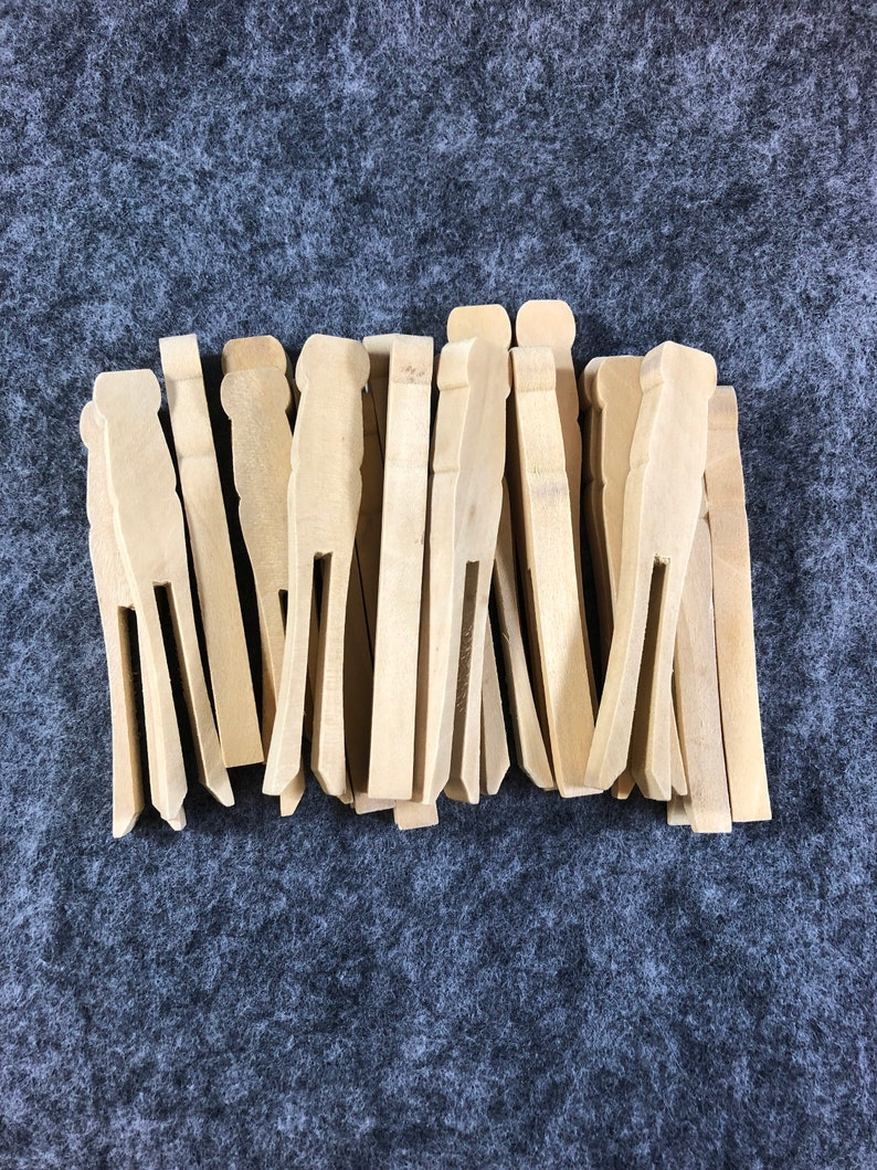 30 pc 1 inch Mini Clothespins BLACK Photo Gifts Favor Party Tags Home Decor
