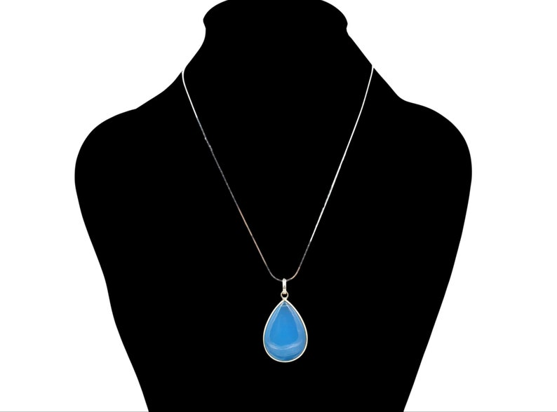 Lavish Turquoise AAA Quality Natural Teardrop Pear shape Faceted Turquoise Pendant With 925 Sterling Silver,Gemstone Pendant,Gift For Her
