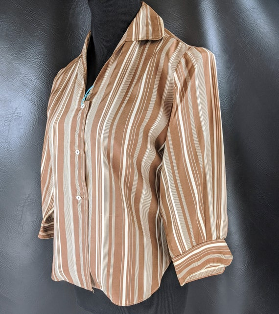 Vintage 30s/40s Casual Striped Blouse