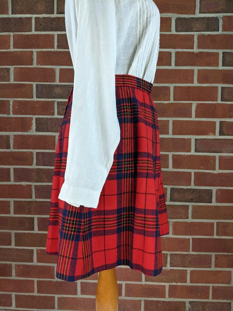 Pendelton Red Plaid Wool Skirt