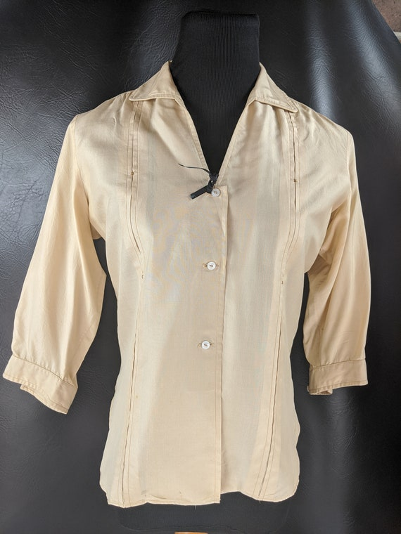 Vintage 30s/40s Cream Blouse
