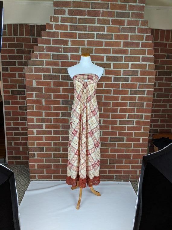 Vintage Geoffrey Beene Strapless Sun Dress