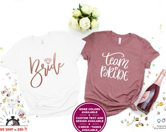 634231488d50 Bachelorette Shirts, Team Bride Shirts, Team Bride Tanks, Bride Squad Shirts,  Bridal Party Shirt, Maid of Honour Shirt, Bridesmaids Shirts