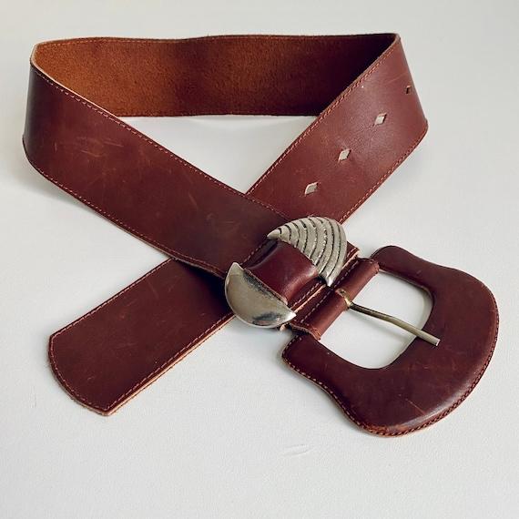 Vintage 80s Belt, 80s Belt, Belt Buckle, Vintage B