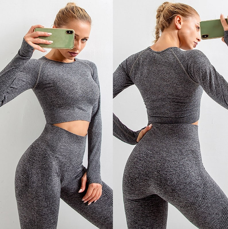 5 Piece Lifting Full Workout Set Jumper Top Leggings And Shorts Seamless Fitness Yoga Sport Bra Clothing Womens Matching Top Leggings Gym