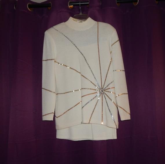 Vintage St. John Evening Sweater Skirt Set