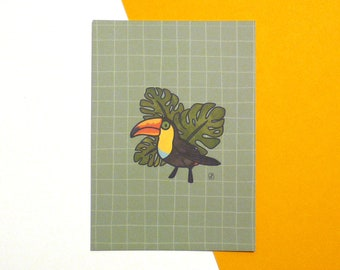 Postcard A6 illustration TOUCAN