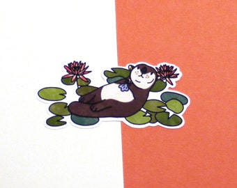 Stickers LOUTRE glossy vinyl finish