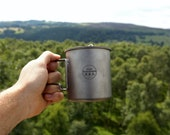 420ml Titanium Cup with Cover Outdoor Coffee Mug Drinking Water Cup Only 90g