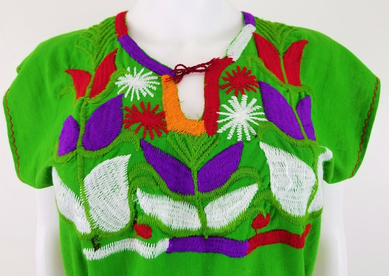 Corn Mazorca Embroidered Blouse Embroidered Mexican Blouse