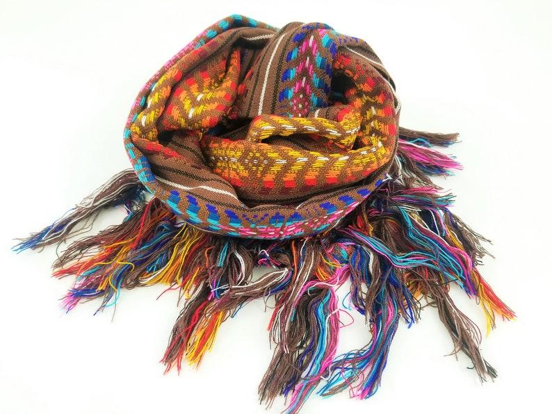 Rebozo mexicano Handmade Mexican Scarf chalina bufanda image 0