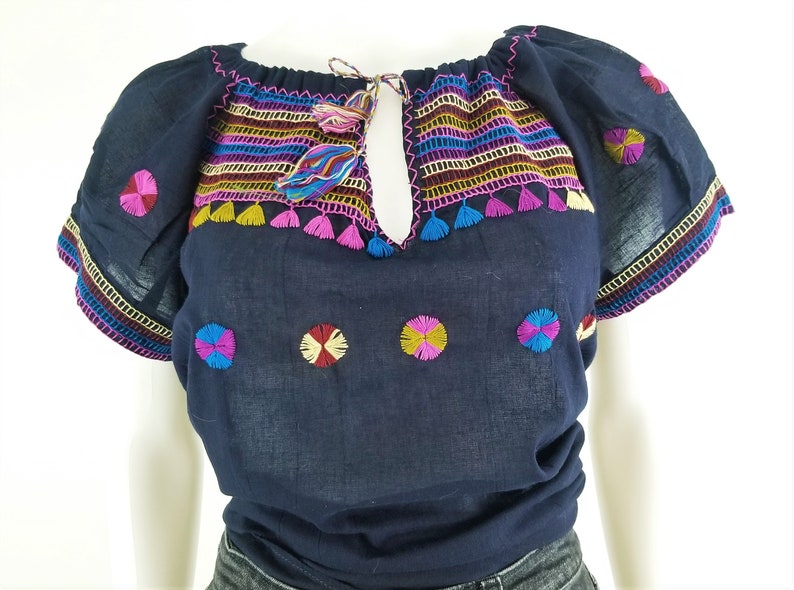 Embroidered Mexican Blouse Embroidered Blouse Handmade image 0