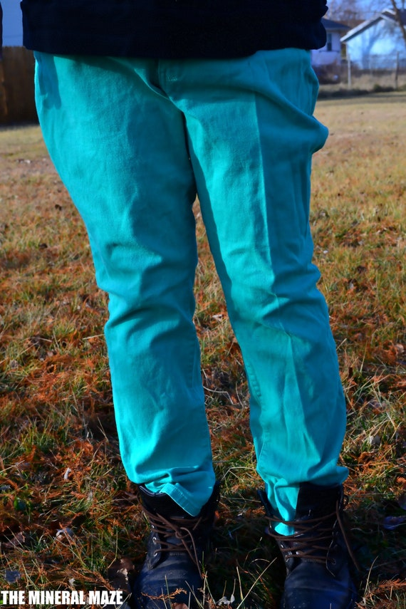 Vintage, Faded Glory, Teal, Green, Jeans, 22W
