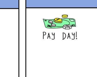 Money Doodle Planner Stickers