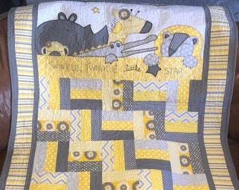 Baby quilt patterns etsy