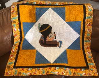 Baby cowboy quilt pattern cute western horse or pony gift etsy