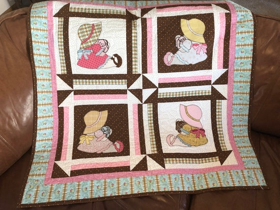 Girl Quilt Pattern Four Little Mary Janes Cute Baby Gift Etsy