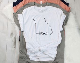 a80d3b0c Missouri Home Shirt | Unisex Missouri Shirt | Bella and Canvas | Soft T- Shirt | Missouri State | Gifts for Her | Gifts for Him