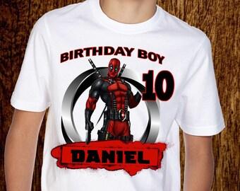 78d454ca Deadpool T Shirt, Personalized Deadpool T-Shirt, Custom tshirt, Deadpool Tee,  Deadpool Fan Shirt, Dead Pool tshirt, Superhero T Shirt, A039