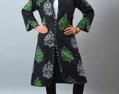 Boho Gypsy Kimono Jacket - Long Reversible Kantha Jacket - Handmade Jacket - Indo Western Fashion Wear Quilted Jacket - Boho Hippie Gypsy
