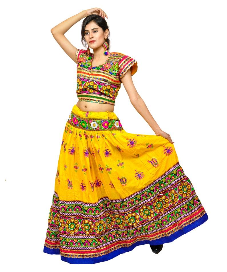 ba09ff27fe Peacock Kutch Embroidered Chaniya Choli-Gujarati Garba Dance   Etsy