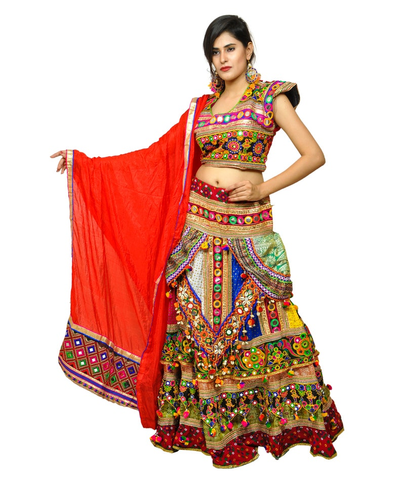 cbef436a63b13 Multi Colored Sanedo Chaniya Choli 2018 Navratri Wear