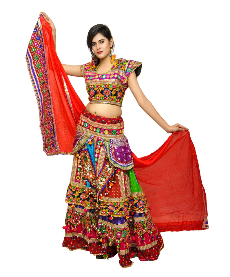 2200917b09 Hippie Bohemian Tribal Style Designer Chaniya Choli Lehenga   Etsy