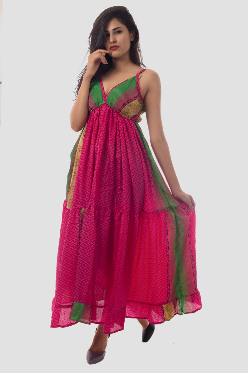 8db917bc4c7 2018 Indo Western Style Fashionable Printed Women s Maxi