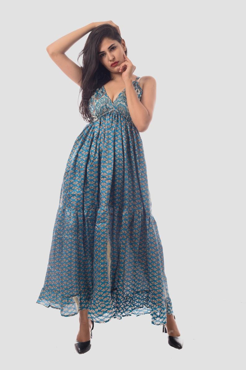 29d23aced5bb Women's Latest Fashion Summer Wear Indo Western Maxi Dress | Etsy