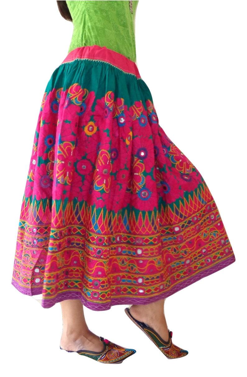 d1ad37b4b7 Vintage Hand Embroidered Navratri Skirt Rabari Embroidery | Etsy