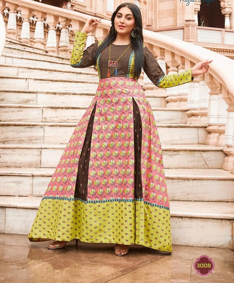 5d7008037f0 Festive Wear Indian Traditional Long Kurti Ethnic Fashion