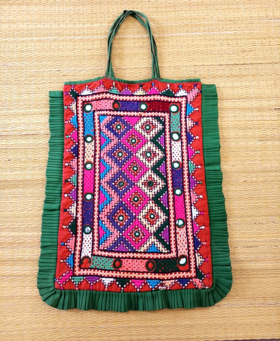 a2349d1b2496 Kutch Embroidery Vintage Theli Bag Indian Traditional Mirror
