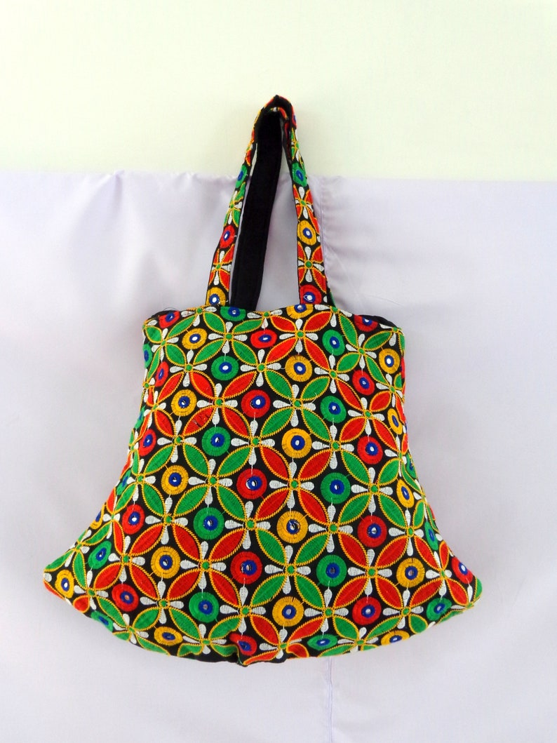 a167038a57 Multicolored Mirror Work Banjara Bag Traditional Vintage