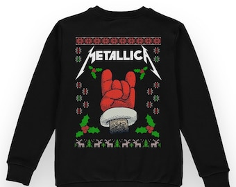 metallica christmas sweater metal alternative xmas jumper funny xmas gift for him her ideas - Metallica Christmas Sweater