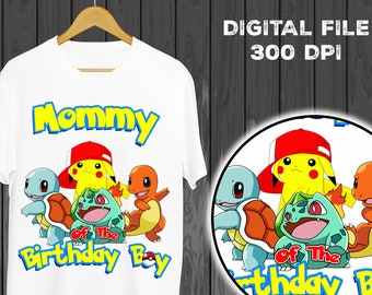 3c2d9b6c Mommy \\ Pokemon Iron On Transfer\\ Pokemon Shirt Iron On Transfer\\ Pikacu Birthday  Shirt\\ Digital File\\ Instant Download