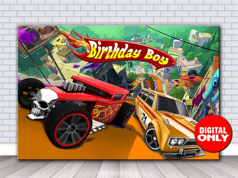 image about Hot Wheels Printable known as Incredibly hot Wheels Printable BackdropHot Wheels Backdrop 60x40 inch PrintableDigital Document Obtain