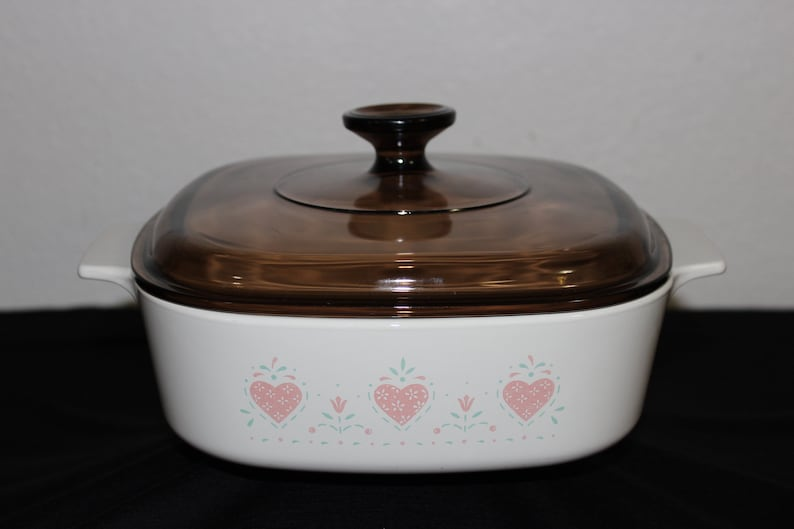 3 Liter Casserole No Lid Forever Yours Hearts Corning Ware