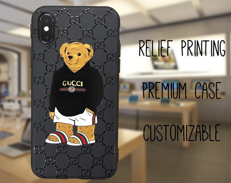 newest c9d1b 42a6f Gucci iphone XS Max case, Teddy iPhone XR case, gucci phone case, Supreme  iphone XS case, gucci galaxy s9 plus case, gucci case gucci iphone