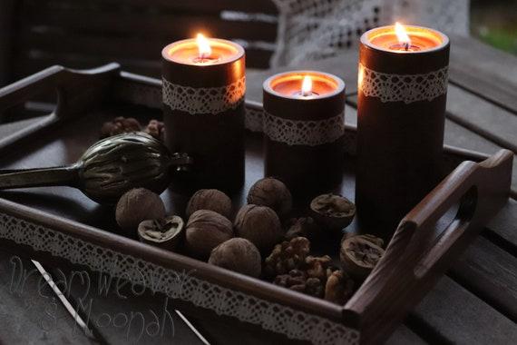 taca i świeczniki