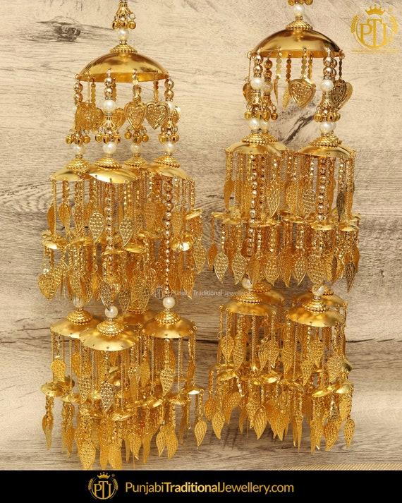 Antique Gold Pippal Patti Bridal Kalire | Punjabi Traditional Jewellery Exclusive