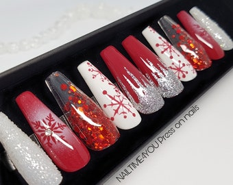 Christmas Nails Etsy