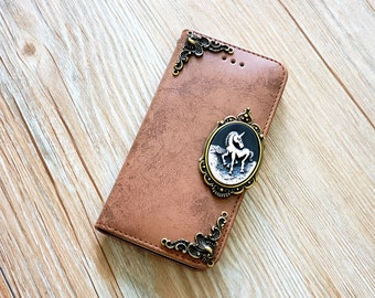 Owl phone leather wallet removable stand case for iPhone X 8