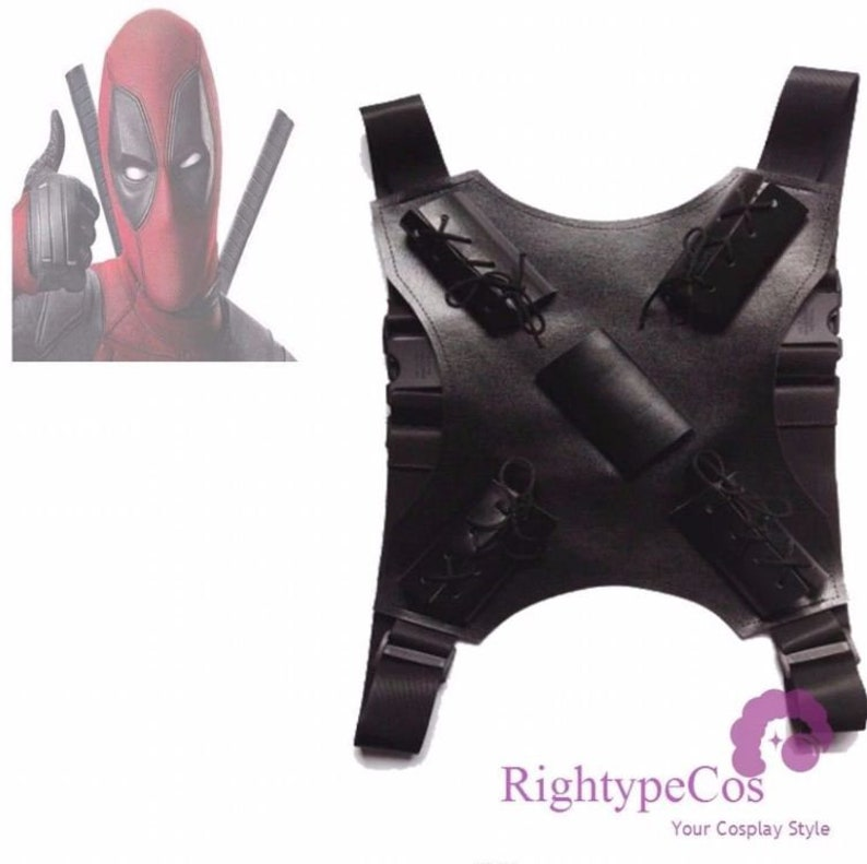 Costume Props Deadpool Superhero Prop Swords Backstrap Novelty & Special Use