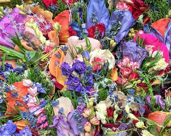 """30 4"""" Sage-Free (No Sage) Smudge Bouquets: Roses, Lavender, Cedar, Pine, Blooms, Herbs. Purify Air w/ Homegrown Botanical Herbal Incense!"""