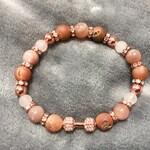 Rose dumbbell bracelet