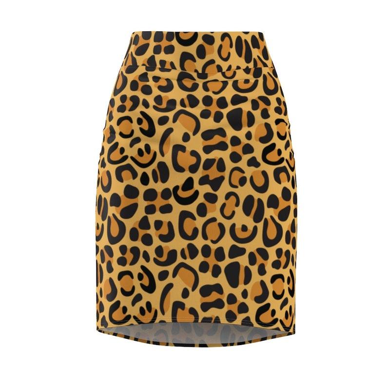 Pencil Skirt Stretch Skirt Animal Print Skirt Leopard Print Skirt Womens Skirt