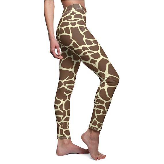 Animal Fur Pattern Gym Pants Giraffe Print Yoga Leggings African Animal Workout Leggings